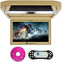 Rockville RVD10HD-BG 10.1 Flip Down Monitor DVD Player, HDMI, USB, Games, LED