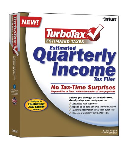 TurboTax Estimated Taxes Quarterly Income Tax Filer Win/Mac
