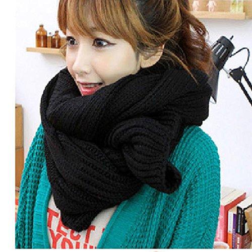 Unisex Women Men's Soft Warm Knitting Wool Long Scarf Neck Warmer Wrap in Winter,Xmas Gift by Greenery