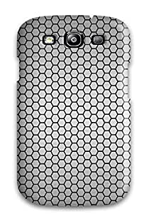 Top Quality Case Cover For Galaxy S3 Case With Nice Metal Honeycomb Pettern Appearance
