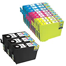 12 Pack - Remanufactured Ink Cartridges for Epson #127 T127 127 T127120 T127220 T127320 T127420 Inkjet Cartridge Compatible With Epson Stylus NX625 NX530 WorkForce 633 630 635 840 645 845 WF-7010 WF-7510 WF-7520 60 545 WF-3540-WF-3520 WF-3530