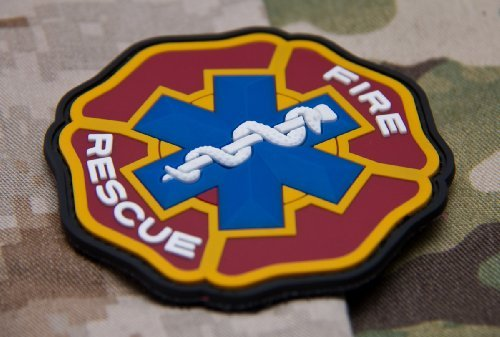 EMT Paramedic Firefighter Fire Rescue PVC Patch