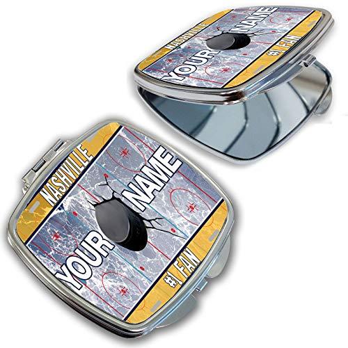 BRGiftShop Customize Your Own Hockey Team Nashville Compact Pocket Cosmetic Mirror (Nashville Furniture)