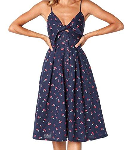 Length 2 Dress Sleeveless Hem Sexy Coolred Women Floral Elegant Big Mid vwxz8UqzZ