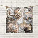 smallbeefly Marble Hand Towel Retro Style Paintbrush Colors in Marbling Texture Watercolor Artwork Quick-Dry Towels Sand Brown Dust Light Grey Size: W 20'' x L 20''