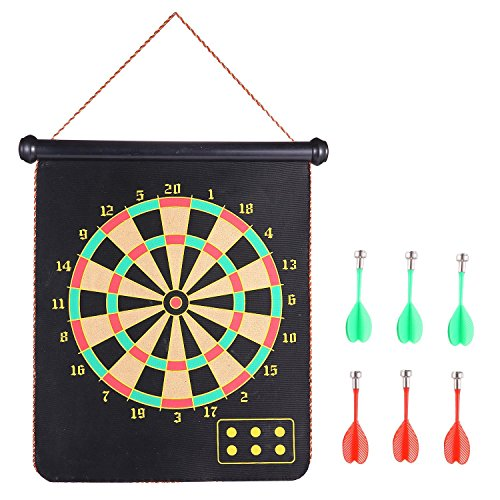 Learn More About Two Sided Reversible Safety Roll up Magnetic Dart Board Game, Target Magnetic With ...