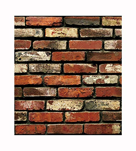 Impression Modern Brick Wall 3D Wall Poster, Wallpaper, Wall Sticker Home Decor Stickers for...