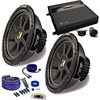 Kicker 2 12 Comp Subwoofers and a ZA2-1000.1D 1000 Watt Amp + Amp wire kit Package