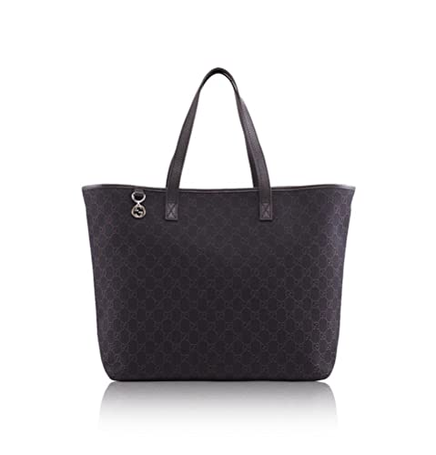 513bdfd4364 Gucci 'GG' Logo Large Canvas and Leather Tote Bag 211525, Brown: Amazon.ca:  Shoes & Handbags