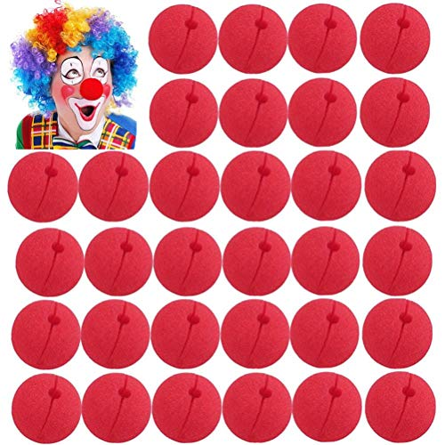 WarmShine 48 PCS Funny Red Nose Foam Circus