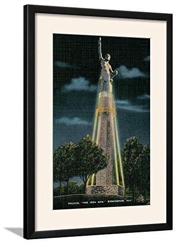 (ArtEdge Vulcan Monument, Birmingham, Alabama Art Print Framed, 21x29, Black Frame-White Mat)