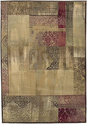 Oriental Weavers Sphinx Generations Green Beige Contemporary Rugs 1527X -6 7 x 9 1 Kitchen Dining