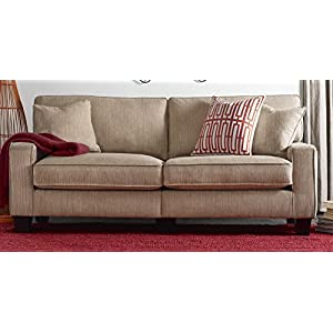 "Serta RTA Palisades Collection 73"" Sofa in Flagstone Beige, CR43534PB"