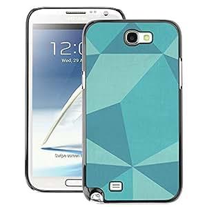 Supergiant (Polygon Pattern Teal Blue Pattern Art) Impreso colorido protector duro espalda Funda piel de Shell para Samsung Note 2 N7100