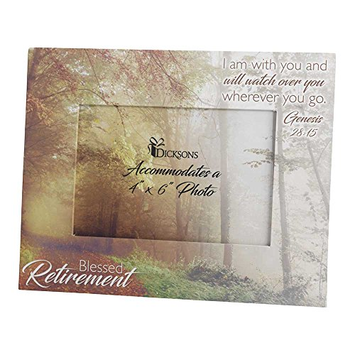 Blessed Retirement Genesis 28:15 Hardboard 7 x 9 Table Top P