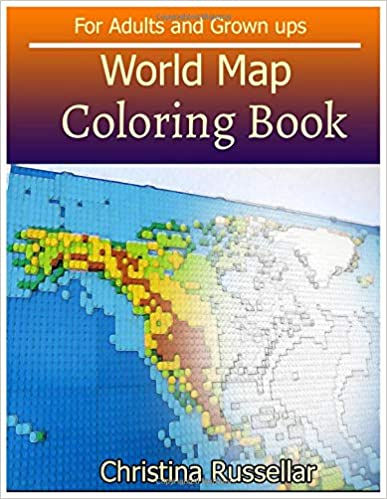Amazon Com World Map Coloring Book For Adults And Grown Ups World
