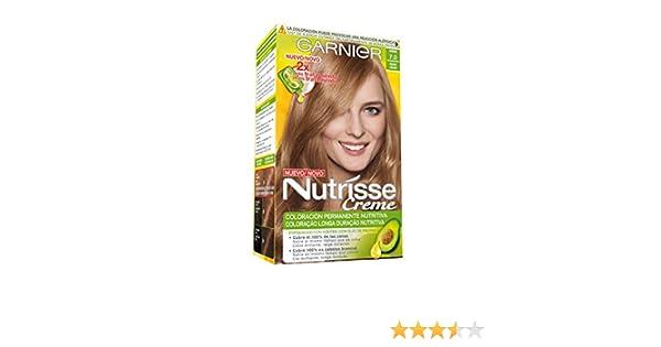 Garnier Nutrisse Creme Coloración permanente con mascarilla nutritiva de cuatro aceites - Tono: Rubio 7: Amazon.es: Belleza