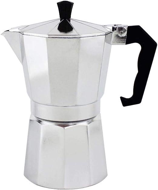 LNYJ Cafetera Mocha Cafetera Moka Filtro de Acero Inoxidable Cafetera exprés Cafetera Herramienta percoladora Olla percoladora Cafetera de Aluminio (Size : 150ml): Amazon.es: Hogar