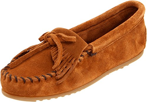 Lightweight Moccasins - Minnetonka Women's Kilty Moccasin,Brown,10 M US