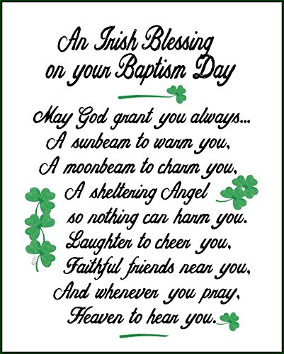 Life Lines Baby Irish Blessing, Green, White