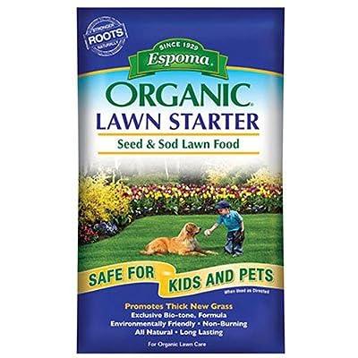 Espoma Organic Lawn Starter Seed and Sod Food Fertilizer