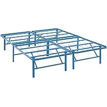 LexMod MOD-5428-LBU Horizon Full Stainless Steel Bed Frame, Light Blue