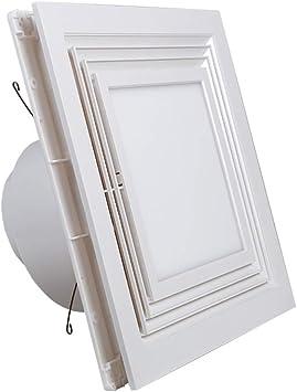 Accesorios de baño Ventilador Con Techo Integrado Tipo 42db / A Ventilador De Baño De Cocina Con Iluminación 300 Mm Aspirador Silencioso Blanco: Amazon.es: Bricolaje y herramientas