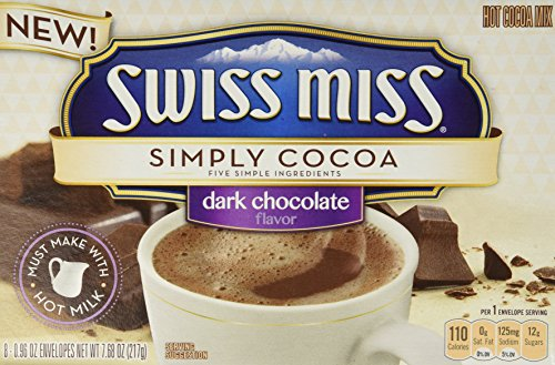 Swiss Miss, Simply Cocoa, Dark Chocolate, Hot Cocoa Mix, 8 Count, 7.68oz Box (Pack of 3)]()