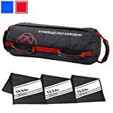 Synergee Pro Rogue Red Adjustable Fitness Sandbag with Filler Bags 10-40lbs Heavy Duty Weight Bag - Red