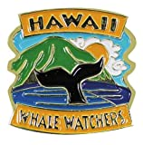 Islander Hawaiian Lapel or Hat Pin Whale Watchers Blue, Gold One Size