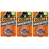 Gorilla 6065001-3 Double-Sided Tough and Clear Mounting Tape (3 Pack), 1