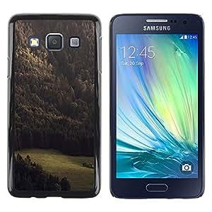 Be Good Phone Accessory // Dura Cáscara cubierta Protectora Caso Carcasa Funda de Protección para Samsung Galaxy A3 SM-A300 // Summer Vignette Green Woods
