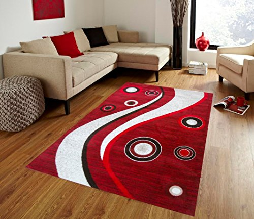 Red Area Rugs/Area Carpet 4x5 Size By MSRUGS - Made From Turkey - Classy Traditional Designs - Perfect Area Rugs For Living Room & Kitchen - Indoor or Home (Red, 4 Feet x 5 Feet)