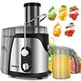 ELEHOT Juicer Machine Juice Extractor 700 Watt Wide Mouth Stainless Steel Dual-Speed Centrifugal