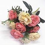 CATTREE-Artificial-Roses-Flowers-Plastic-Plants-Silk-Fake-Rose-Wedding-Bridal-Bouquet-Party-Indoor-Outdoor-DIY-Home-Garden-Verandah-Office-Table-Centerpieces-Arrangements-Decoration