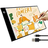 A3 Tracing LED Copy Board Light Box, Ultra-Thin Adjustable USB Power Artcraft LED Tracer Light Pad for Tattoo Drawing…