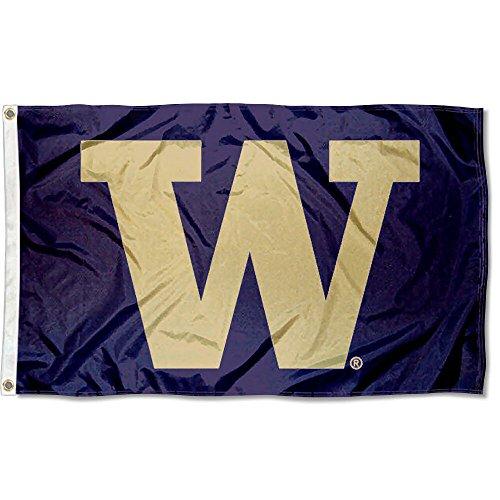 Washington Huskies Big W University Large College Flag
