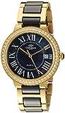 Oniss Paris Women's Quartz Stainless Steel and Ceramic Dress Watch, Color:Black (Model: ON3331-LGBK)