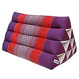 Thai triangular cushion, relaxation, beach, kapok, made in Thailand, Violet/Red (81500)