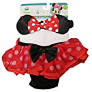 Disney Minnie Mouse Red Polka-dotted Diaper Cover and Headband Set [5013]