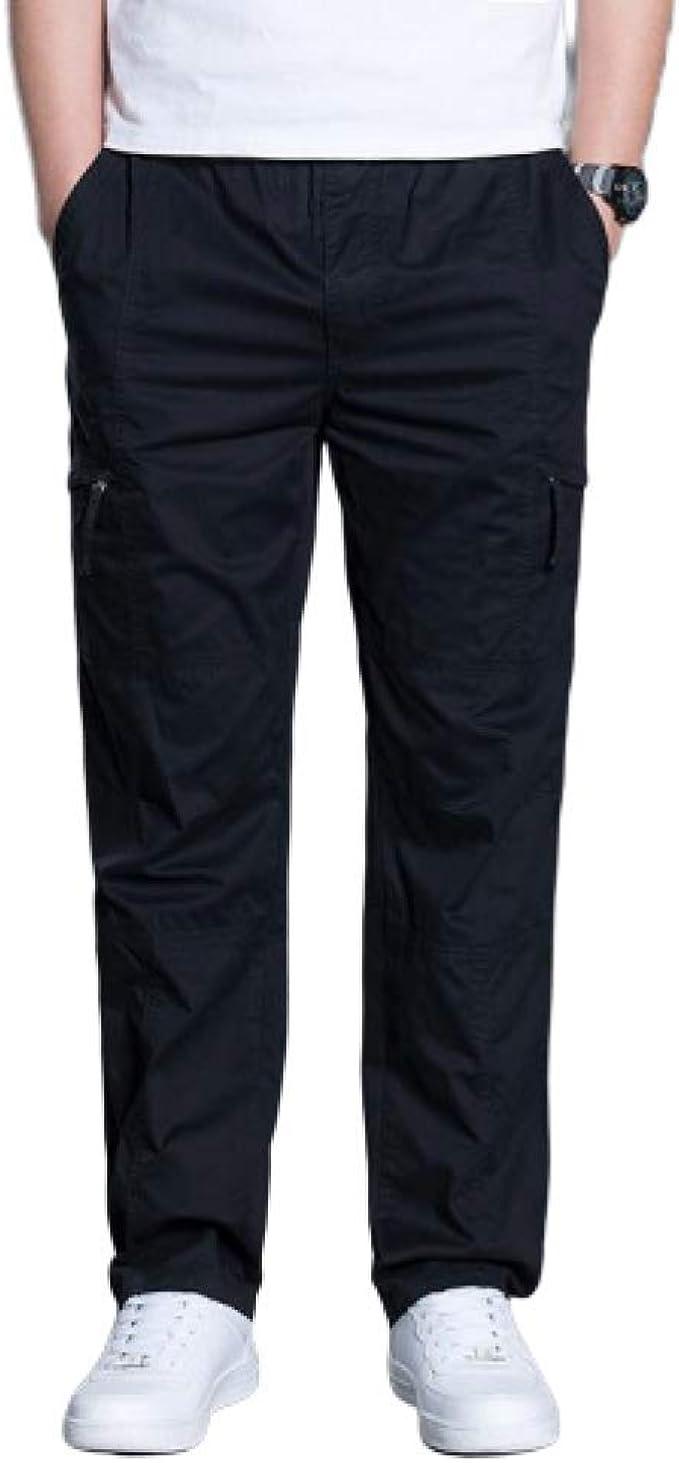 Mens Smart Casual Cotton Trousers Pants