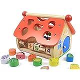 【 Alnair 】 はめこみ おうち で 遊べる かたはめ 木のおもちゃ 木製 知育玩具 ウッド 【 送料無料 】