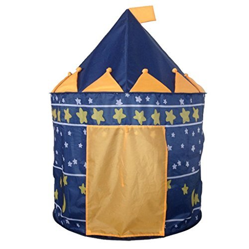 Boy's Blue Prince Castle Play Tent for Kids- Indoor and Outd