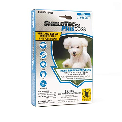 ShieldTec Flea and Tick Prevention for Dogs, Small 5-15 lbs, 8 Months, 8 Doses