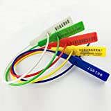 SECURITY TAGS NUMBERED PULL TIES SECURE ANTI-TAMPER SEALS(Package of 100)