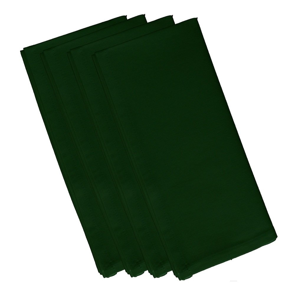 4 Piece Evergreen Dinner Napkin, (Set Of 4), Solid Pattern, Classic And Contemporary Style, Square Shape, Good Qualitie, Everyday Or Special Occasions, Decorative, Cotton Material, Dark Green, Sage by Patriot