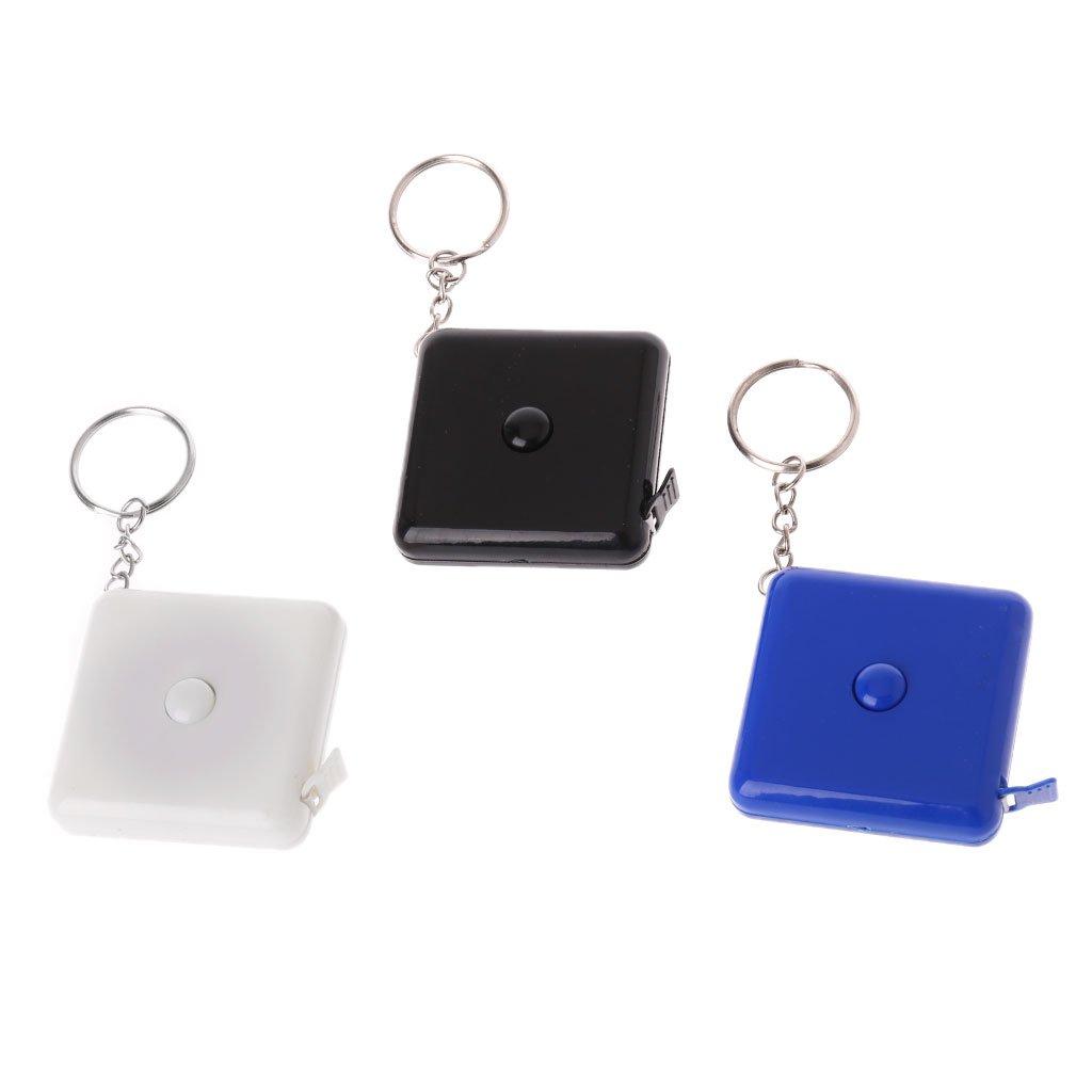 ZChun 1.5m m/ètre ruban plastique portable porte-cl/és r/étractable r/ègle couture