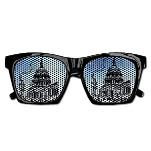 Xing Stars Colorful Summer Unisex Us Capitol Building Retro Clip Art Fashion Party Costume Sunglasses