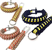 Flashfire Supply Firefighter Paracord Adjustable Survival Bracelets Yellow/Orange