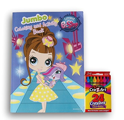 Littlest Pet Shop Jumbo Coloring and Activity Book with a Box of Crayons - Shop Littlest Pet Coloring